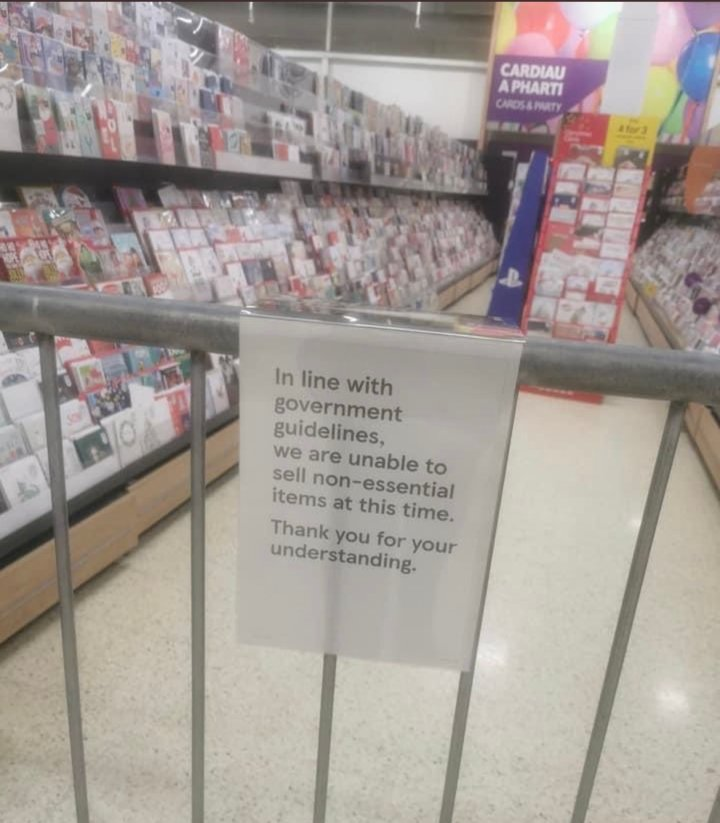 In Pictures: Wales' Lockdown Supermarkets